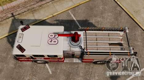 Пожарная машина для GTA 4 вид справа