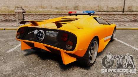 Infernus Police для GTA 4 вид сзади слева
