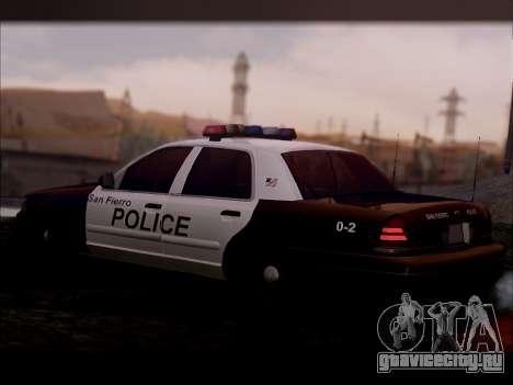 Ford Crown Victoria 2005 Police для GTA San Andreas вид сзади слева