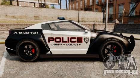 GTA V Police Elegy RH8 для GTA 4 вид слева
