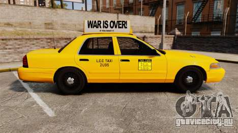 Ford Crown Victoria 1999 LCC Taxi для GTA 4 вид слева