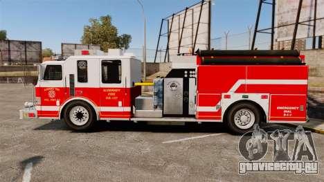 Firetruck Alderney [ELS] для GTA 4 вид слева