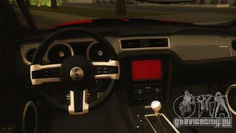 Ford Shelby GT500 2013 для GTA San Andreas вид изнутри