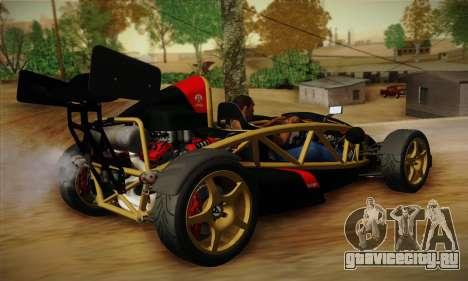 Ariel Atom 500 2012 V8 для GTA San Andreas вид сзади слева