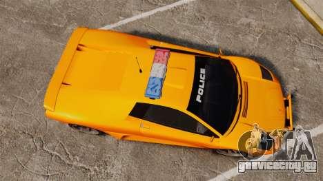 Infernus Police для GTA 4 вид справа
