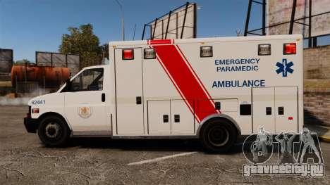 Brute B.C. Ambulance Service [ELS] для GTA 4 вид слева
