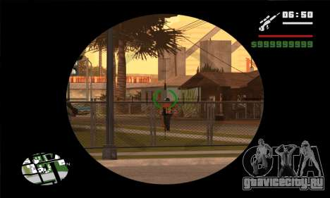 GTA V Sniper Scope для GTA San Andreas третий скриншот
