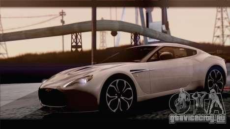 Aston Martin V12 Zagato 2012 [IVF] для GTA San Andreas вид сзади