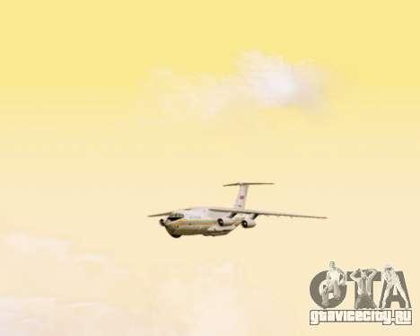 Ил-76ТД МЧС России для GTA San Andreas вид изнутри
