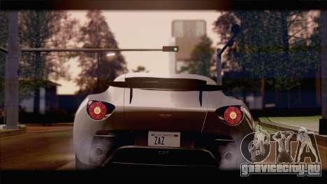 Aston Martin V12 Zagato 2012 [IVF] для GTA San Andreas вид слева