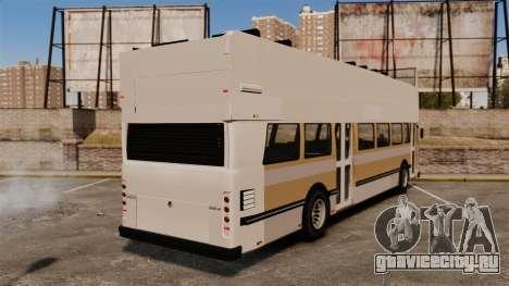 Туристический автобус для GTA 4 вид сзади слева