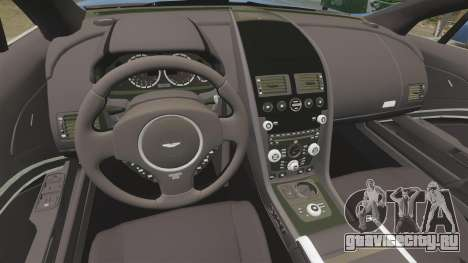 Aston Martin Rapide 2010 для GTA 4 вид изнутри