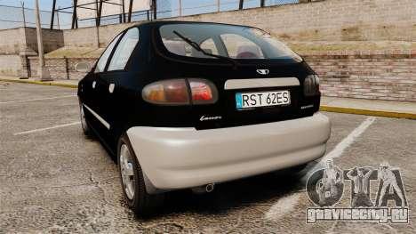 Daewoo Lanos Style 2001 Limited version для GTA 4 вид сзади слева