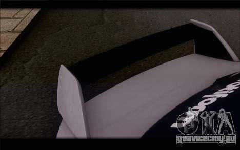 Mitsubishi Lancer Evolution Stance для GTA San Andreas вид сзади