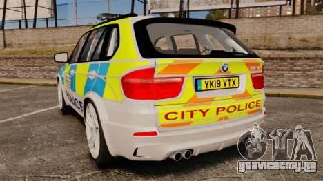 BMW X5 Police [ELS] для GTA 4 вид сзади слева