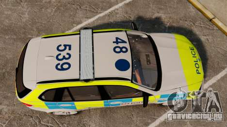 BMW X5 City Of London Police [ELS] для GTA 4 вид справа