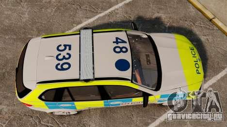 BMW X5 City Of London Police [ELS] для GTA 4 вид справа