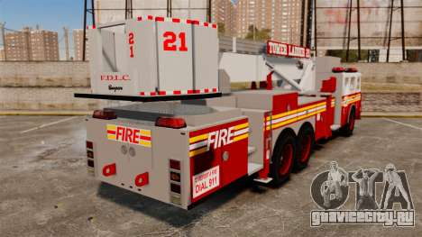 Seagrave Aerialscope Tower Ladder 2006 FDLC для GTA 4 вид сзади слева