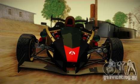 Ariel Atom 500 2012 V8 для GTA San Andreas вид изнутри