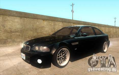 BMW M3 e46 Duocolor Edit для GTA San Andreas вид изнутри
