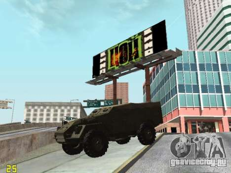 БТР-40 для GTA San Andreas вид сбоку