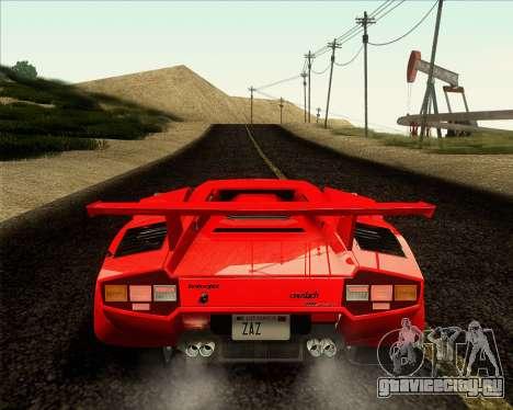 Lamborghini Countach LP500 Quattrovalvole 1988 для GTA San Andreas вид сзади