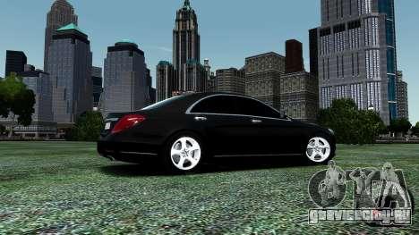 Mercedes-Benz S-Class W222 2014 для GTA 4 вид снизу