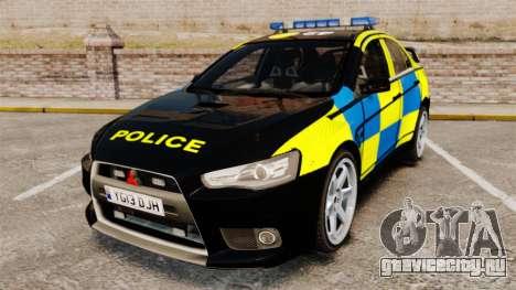 Mitsubishi Lancer Evolution X Uk Police [ELS] для GTA 4