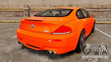 BMW M6 для GTA 4 вид сзади слева