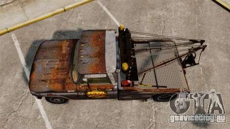 Chevrolet Tow truck rusty Stock для GTA 4 вид справа