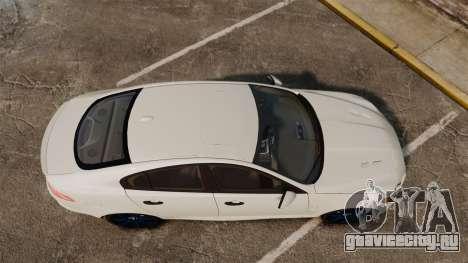 Jaguar XFR 2010 Police Unmarked [ELS] для GTA 4 вид справа