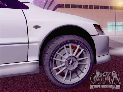 Mitsubishi Lancer Evo IX MR Edition для GTA San Andreas вид сзади слева