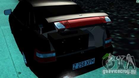 ВАЗ 2110 Казахстан для GTA San Andreas вид сзади слева