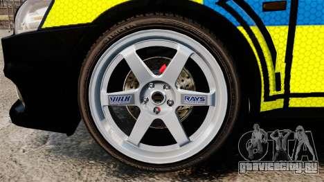 Mitsubishi Lancer Evolution X Uk Police [ELS] для GTA 4 вид сзади