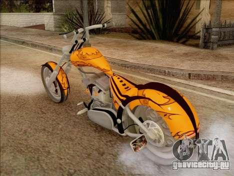 Sons Of Anarchy Chopper Motorcycle для GTA San Andreas вид слева