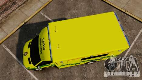 Mercedes-Benz Sprinter [ELS] London Ambulance для GTA 4 вид справа