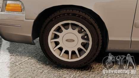 Ford Crown Victoria 1999 для GTA 4 вид изнутри