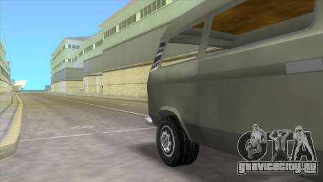 Volkswagen Transporter T3 для GTA Vice City вид сзади слева