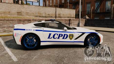 Chevrolet Corvette C7 Stingray 2014 Police для GTA 4 вид слева