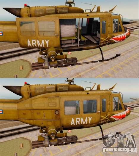 Bell UH-1 Iroquois v2.0 Gunship [EPM] для GTA 4 вид снизу