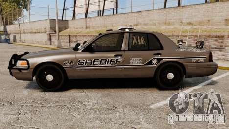 Ford Crown Victoria 2008 Sheriff Traffic [ELS] для GTA 4 вид слева