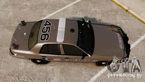Ford Crown Victoria 2008 Sheriff Traffic [ELS] для GTA 4 вид справа
