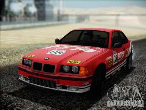 BMW M3 E36 для GTA San Andreas вид снизу