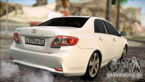 Toyota Corolla 2012 для GTA San Andreas вид справа