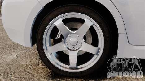 Subaru Impreza 2010 для GTA 4 вид сзади