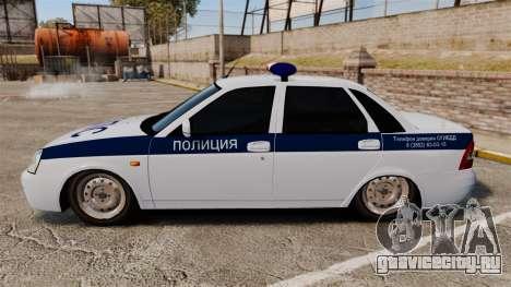 ВАЗ-2170 Лада Приора ДПС для GTA 4 вид слева