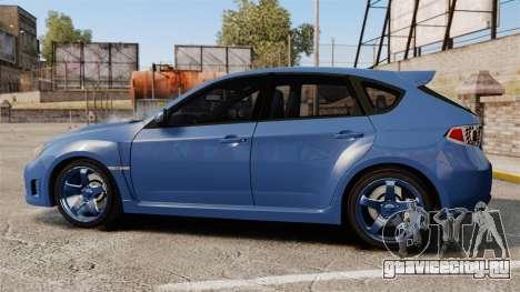 Subaru Impreza 2010 для GTA 4 вид слева