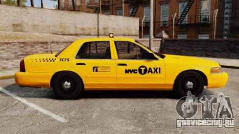 Ford Crown Victoria 1999 NYC Taxi для GTA 4 вид слева