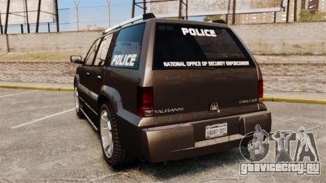 Cavalcade Police для GTA 4 вид сзади слева