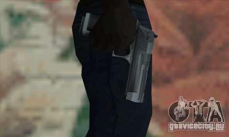 Desert Eagle серебристый для GTA San Andreas третий скриншот